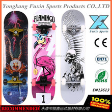 3108 EN13613 Canadian maple or China maple graphic concave deck complete professional skateboard