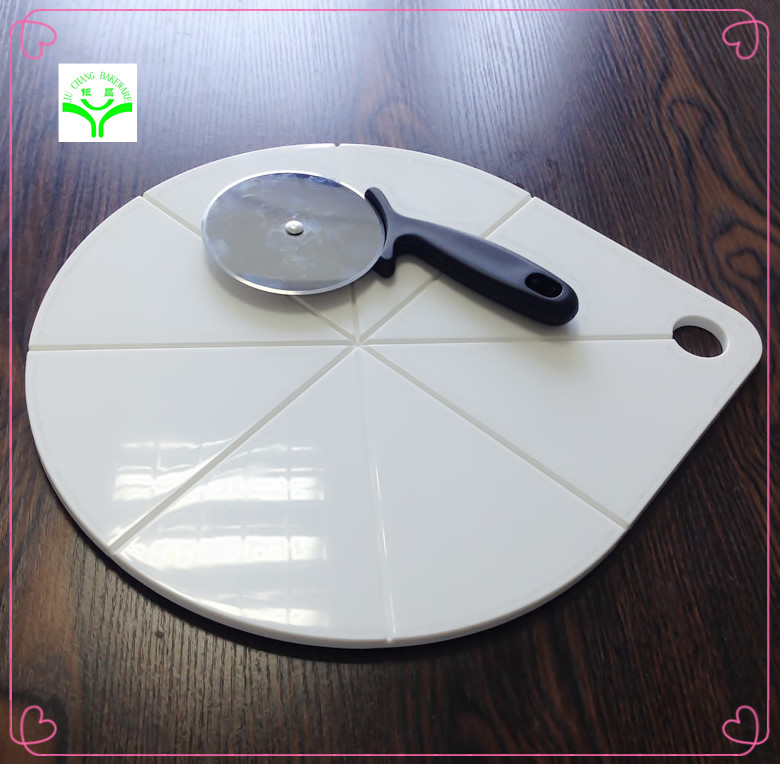 Stainless steel antimicrobial cutting board plastic board with wooden handle