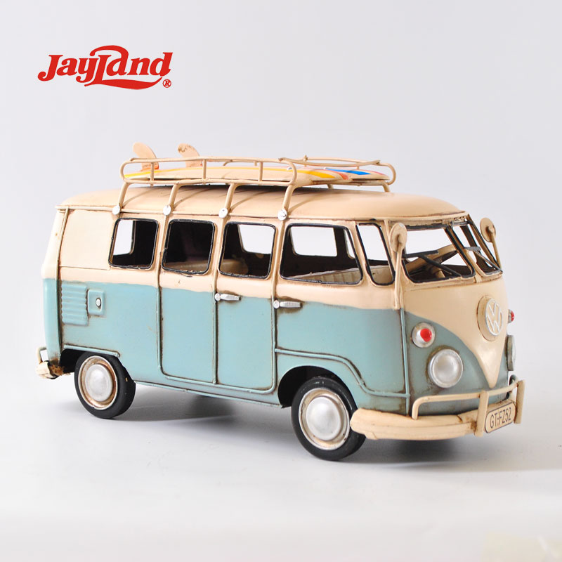 <strong>Decorative</strong> Metal Blue VW Bus model 1:20-SCALE for Home <strong>decor</strong> from Jayland