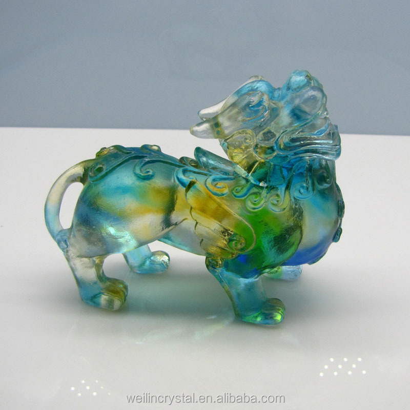 new fashion casting gifts of chinese dragon glass figurines