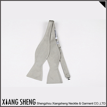 New Arrival Best Sale Grey Silk Self Bow Ties