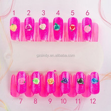 High Quality Easy Flower Nail Design ,Polymer Clay 3D Silicone Nail Art Rose Flower