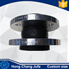 Customed JIS10K carbon steel flange rubber expansion bellow joint flexible coupling rubber
