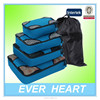 4 Set Packing Cubes Travel Luggage Organizers with Laundry Bag