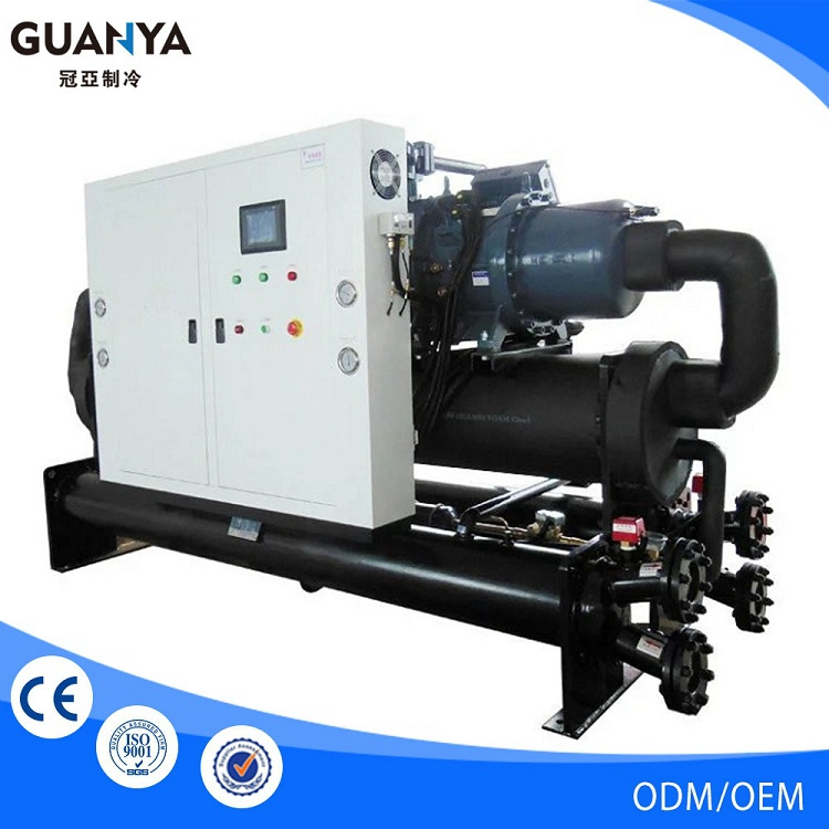 Guanya-40W china industrial water cooled screw chiller