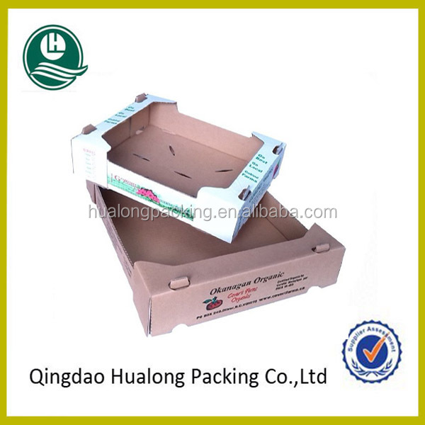 Wholesale cardboard carton box for vegetables and fruits