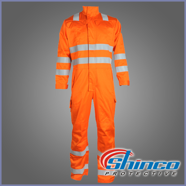 cvc fireproof coverall with reflective tape