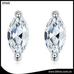 Latest hot sale white gold plated daily wear stud earrings for fashion girl