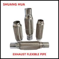 flexible exhaust pipe stainless steel 201/304 bellows, muffler with joints