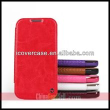 iCoverCase PU Leather Case for Samsung Galaxy S4 SIV i9500 Wallet Stand Flip Cover With Card Holders & Crazy horse pattern