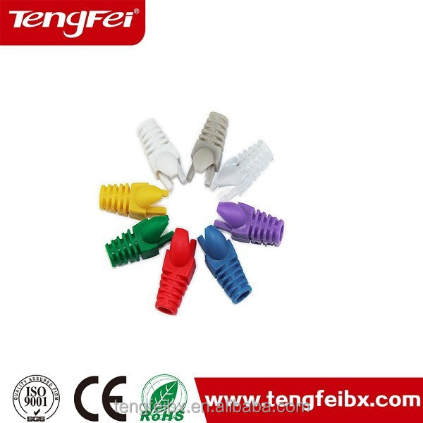 6p6c RJ45 Connector Rubber Boot for Solid Cat6 cable