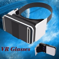 "Universal 3D Glasses Virtual Reality VR 3D Movies Games TV Glasses with Head Strap For 4-6.5"" Mobile Phones"