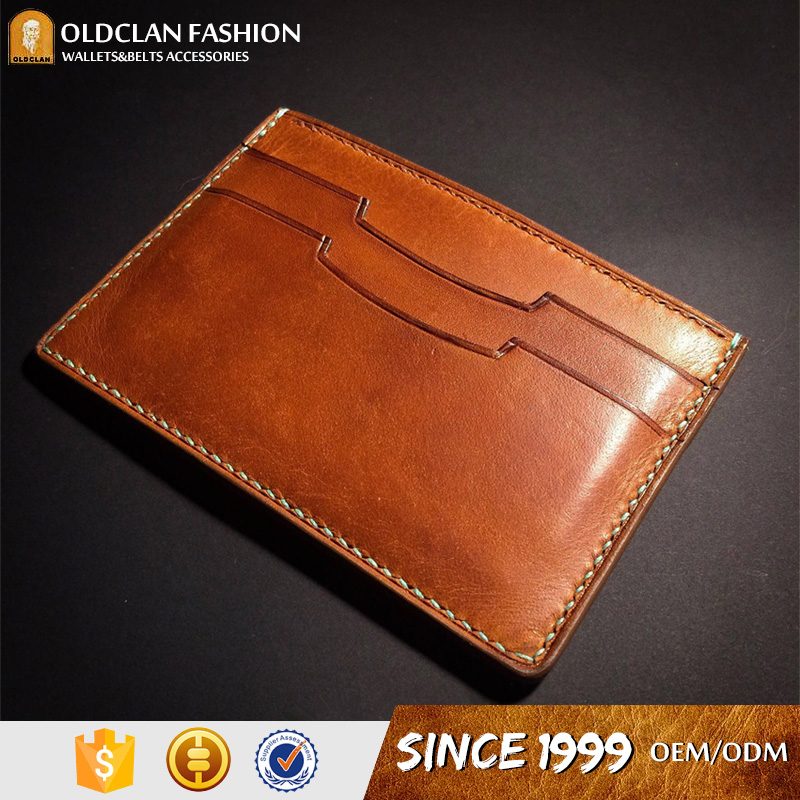 2018 Fashion colorful credit card holder leather wallets for men
