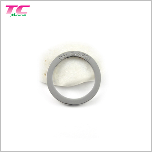 Shiny Silver Metal O Ring Buckle For Belt Strap Flat Custom Design Metal Rings