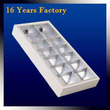 Louver Fitting Aluminum Reflector Grid LUMINAIRES Fluorescent 4*18watt T8 Light Fixture Grid Lighting indoor commercial lighting