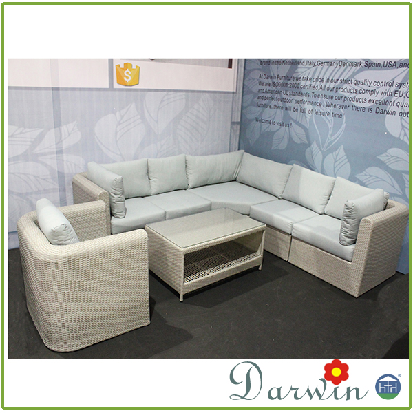 New collection gardeners eden furniture modular wicker rattan effect sofa