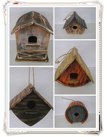 2016 Hot selling cheap handmade carved wooden bird house light house