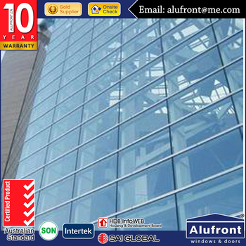 Spider System Aluminum Glass Curtain Wall made in Guanzhou