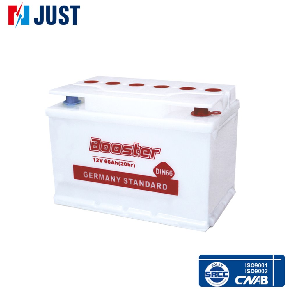 DIN66 dry charged lead acid battery