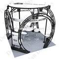 Round Display Design Aluminium Truss Exhibition Booth