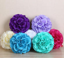 Hanging decorative flower ball artificial silk flower ball for wedding