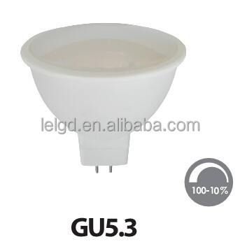 plastic body led spotlight light with gu10 gu5.3 jcdr base low price china manufacturer