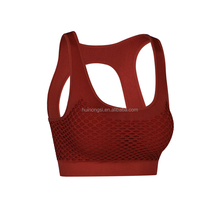 High Quantity wholesale gym clothing with removable inner pads mesh genie yoga sports bra