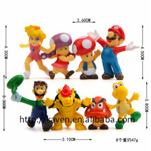 (TOP Quality)8pcs Supers Mario Action Figure,Supers Mario PVC Figure