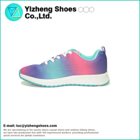 2016 Hot design breathable colorful flyknit running sports shoes for men