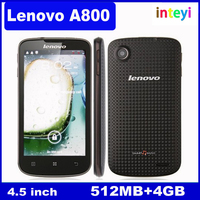 100% Original Lenovo A800 Android 4.0 Mobile Phone 854*480 MTK6577 Dual Core 4.5 inch Cheap Smartphone