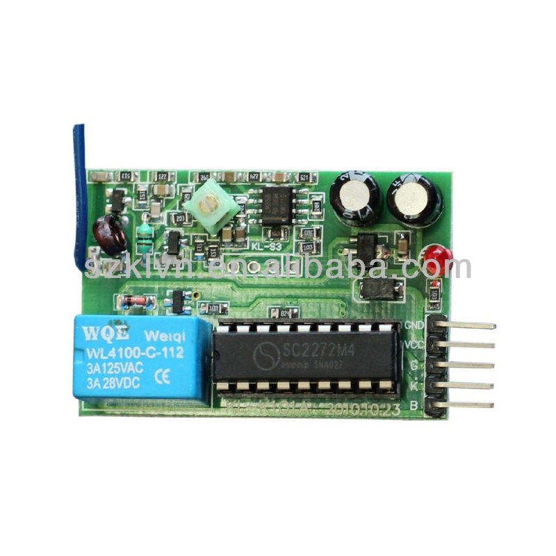 1-Channel 315mhz wireless RF dc 12v remote controlled switches (KL-K101)