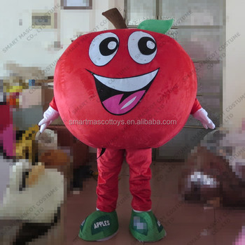 EVA plush material apple mascot costume lovely red adult apple costume