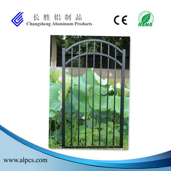 Powder Coated Black Aluminum Fence Gate, Railing