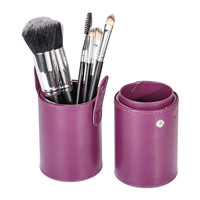 New Arrival Wholesale 7pcs/set Fashion Women Soft Nylon Hair Makeup Brush Set with Acrylic Metal Handle