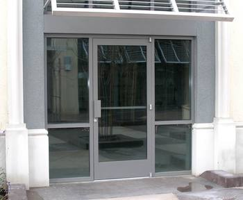 Aluminum Frame Design Office Entry Door For Commerical With Door Closer