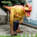 Walking T-rex with Dinosaur Costume