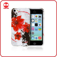 Mamufacturer Stylish Red Flower Soft Printing Tpu Case for iphone 5c Case