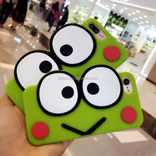 Fancy 3D Cartoon Animal Rubber Gel Frog Phone Case for iPhone 7 7Plus