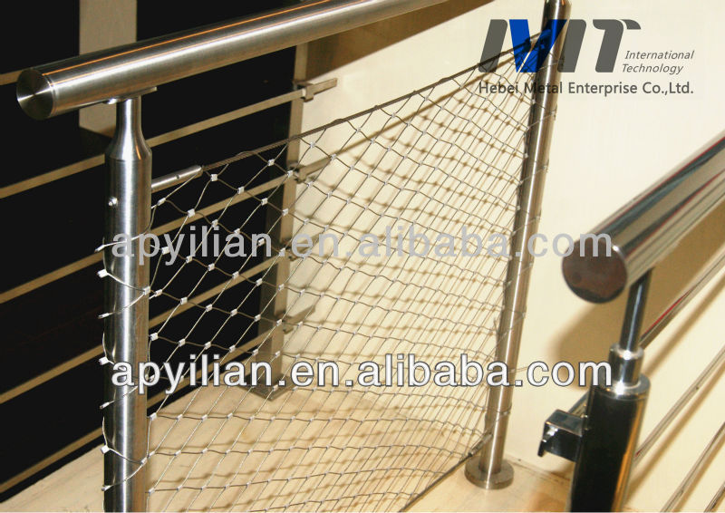 MT AISI SS316 decorative rope mesh fence indoor and outdoor