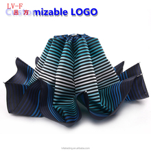 Factory direct sales 10k Oversized Double 3 folding windproof outdoor stripe umbrella Can be printed logo