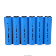 Wholesale Factory 2400mAh 3.7v Rechargeable Li-ion Lithium 18650 Battery for Electric