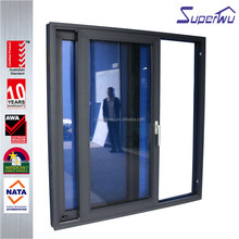 Alibaba china double panel anti theft aluminium sliding door with double track