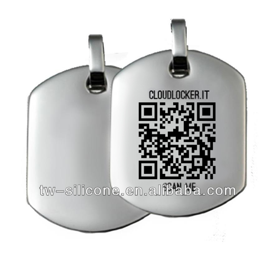 QR code dog tag wholesale pet supply