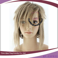 short style dark grey cospaly hair lace wig