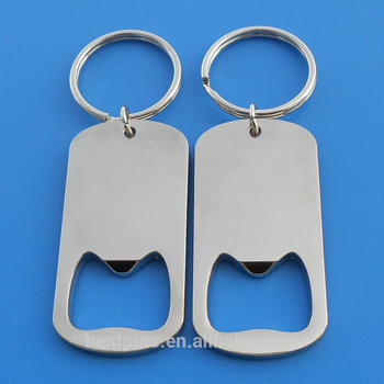 custom logo or blank bulk metal souvenir beer bottle opener keychain/keyring wholesale
