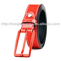 Fashion new style elegant leather belt,fake designer belts with pu leather for garment