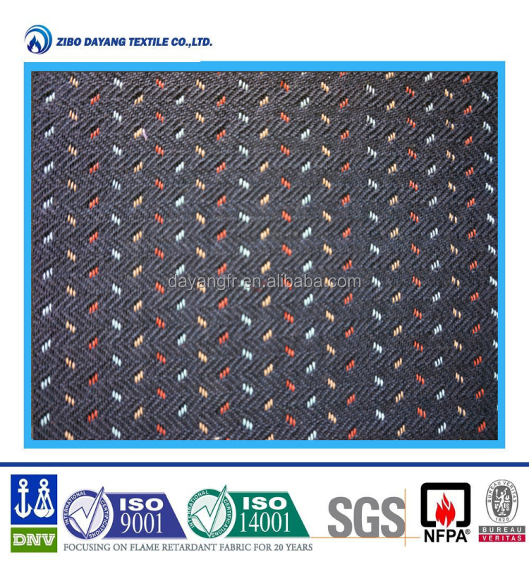 100% inherently fire retardant jacquard sofa textile m1 furniture