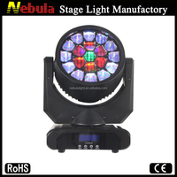 19 x 15w RGBW 4 in 1 led bee eye moving head wash beam light