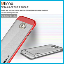 Electroplating drawing transparent for Slicoo soft TPU 0.3mm phone Back Cover Case for samsung galaxy s7 s7 edge