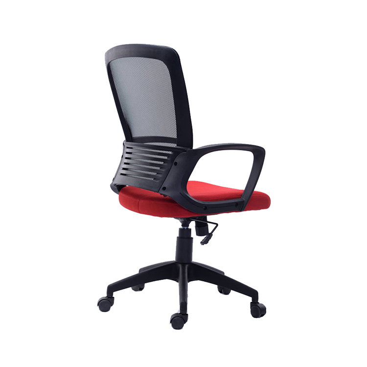 Modern high quality comfortable plastic back red executive mesh office net chair